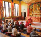 Lama Zangmo and Group in Shrine web