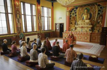 Lama Zangmo and Group in Shrine